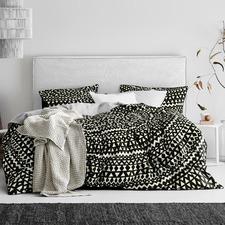 Black Inca Cotton Quilt Cover Set