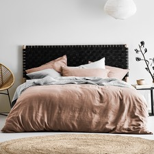 Pink Maison Fringed Quilt Cover