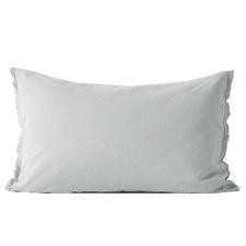 Chambray Fringe Border Standard Pillowcase