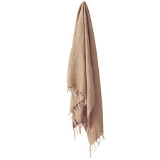 Fringed Vintage Style Linen Throw