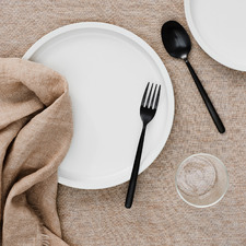 Fringed Vintage Style Linen Table Cloth