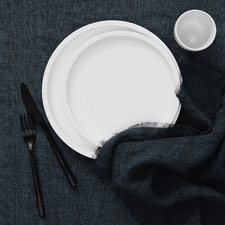Vintage-Style Linen Table Cloth