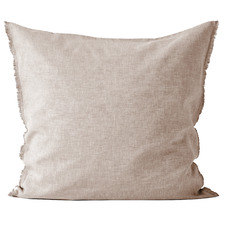 Pink Chambray  Linen & Cotton European Pillowcase