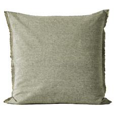 Olive Chambray Linen & Cotton European Pillowcase