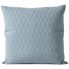 Eucalyptus Quilted Chambray Linen & Cotton European Pillowcase