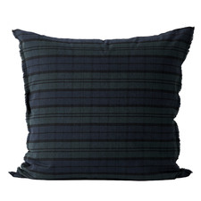 Indigo Tartan Linen & Cotton European Pillowcase