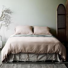 Nude Maison Vintage Linen-Blend Quilt Cover