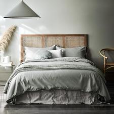 Limestone Maison Vintage Linen-Blend Quilt Cover