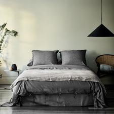 Charcoal Maison Vintage Linen-Blend Quilt Cover