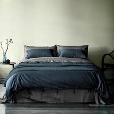 Ink Maison Vintage Linen-Blend Quilt Cover