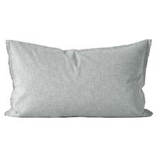 Chambray Fringe Linen-Blend Standard Pillowcase