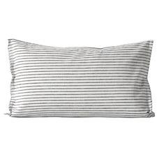 Striped Linen-Blend Standard Pillowcase