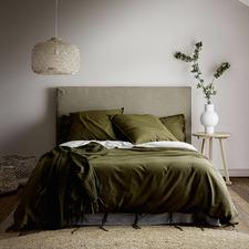 Khaki Maison Vintage Cotton-Blend Quilt Cover