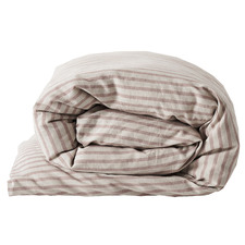 Rosewater Heirloom Stripe Cotton-Blend Quilt Cover
