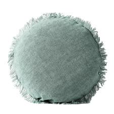 Fringed Vintage Wash Linen 45cm Round Cushion