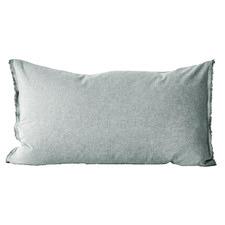 Chambray Fringe Cotton Blend Standard Pillowcase