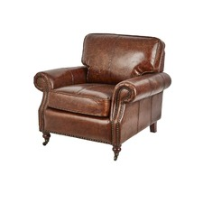 Vintage Leather Chestnut Balmoral Chair