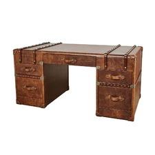 Vintager Leather Cognac Grand Desk