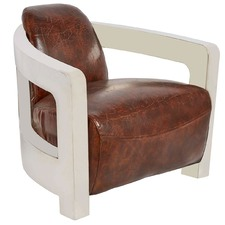 Vintage Leather Chestnut Meirs Chair