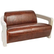 Vintage Leather Chestnut 2 Seater Meirs Chair