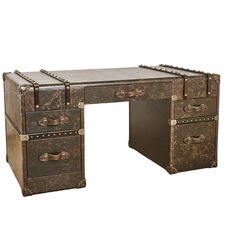 Vintage Leather Espresso Grand Desk