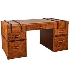 Vintage Leather Hazelnut Grand Desk