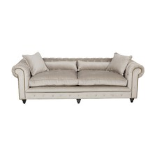 Chesterfield Kensington Grey Velvet Sofa