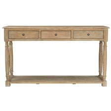3 Drawer Oak Console Table