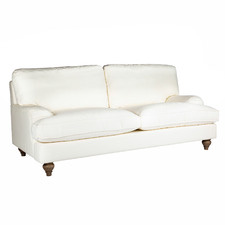 Cream Jasmine 2.5 Seater Cotton Sofa