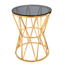 Maximus Glass & Steel End Table