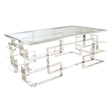 Masa Glass & Steel Coffee Table