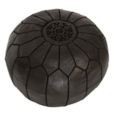 Black Traditional Stitch Ottoman
