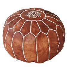 Tan Marrakesh Traditional Stitch Ottoman Cover