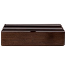 Large Walnut 6 Port USB Hub