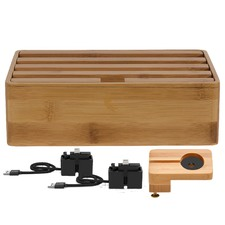 Medium Bamboo 4 Port & ALLDOCK Accessories Set