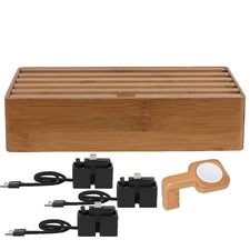 Large Bamboo 6 Port & ALLDOCK Accessories Set