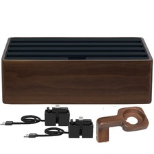 Medium Walnut & Black 4 Port with Alldock Accessories Set