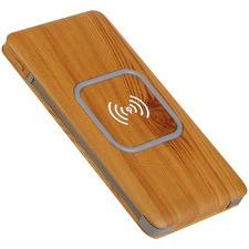 LuxeTech Wireless Power Bank Bamboo
