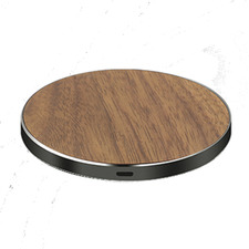 Walnut Luxetech Wireless Charging Pad