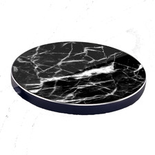 Black Luxetech Marble Wireless Charging Pad