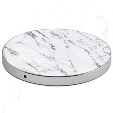 White Luxetech Marble Wireless Charging Pad
