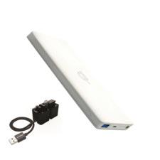White Alldock To-Go Wireless Powerbank