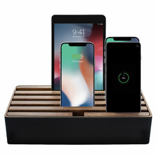 Black & Walnut Alldock Classic Family Charging Station