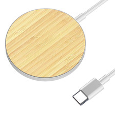 MAGLuxe Magnetic Wireless Bamboo Charging Pad Set