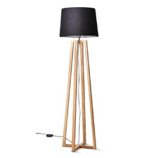 Dane Floor Lamp with Black Shade