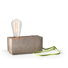 Hank Brick Lamp with Lime Cable