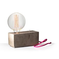 Hank Brick Lamp with Pink Cable