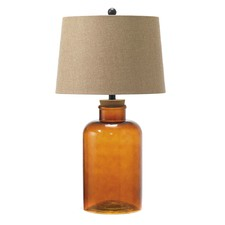 Amber Vera Fillable Table Lamp