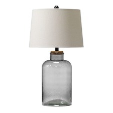 Smoke Grey Vera Fillable Table Lamp