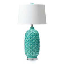 Aqua Blue Table Lamp